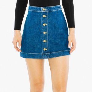 American Apparel Denim Button Skirt